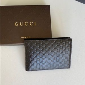 NWT ❤️Gucci Brown Men's Wallet Micro GG